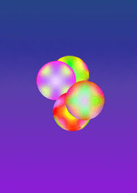 Psychedelic ball purple blue