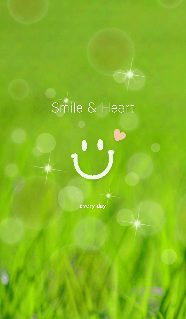 Heart and Smile on fresh green
