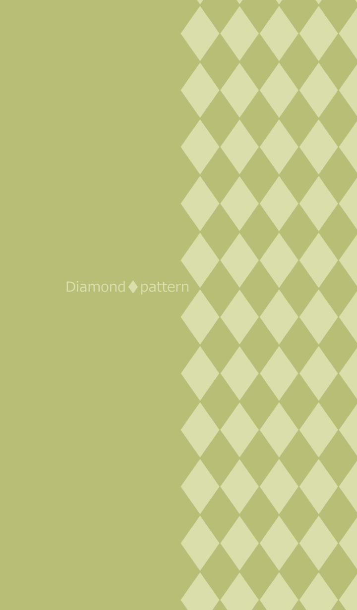 Chic diamond pattern -Pistachio green-