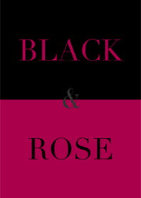 black & rose red