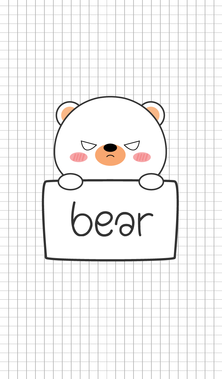 Simple Angry White Bear (jp)