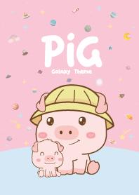 Pig Cutie Galaxy Pink