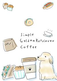 simple Golden Retriever coffee