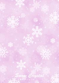 Snow Crystal -Watercolor Purple-