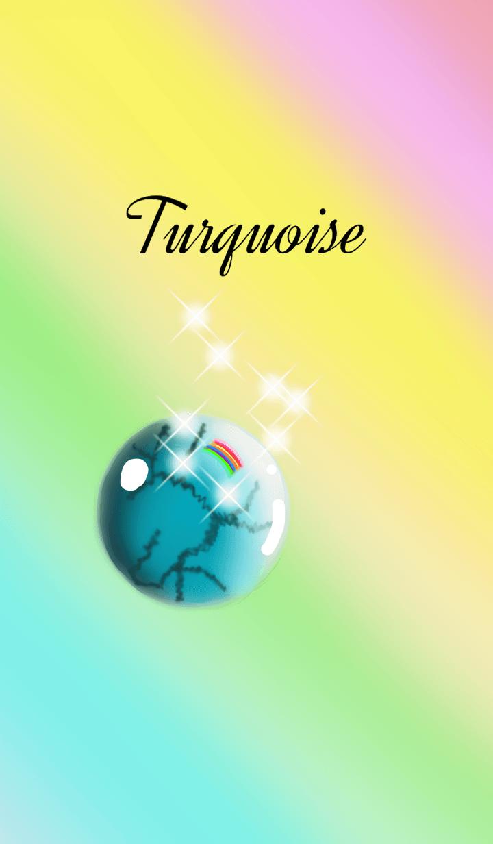 December birthstone.Turquoise & Rutile