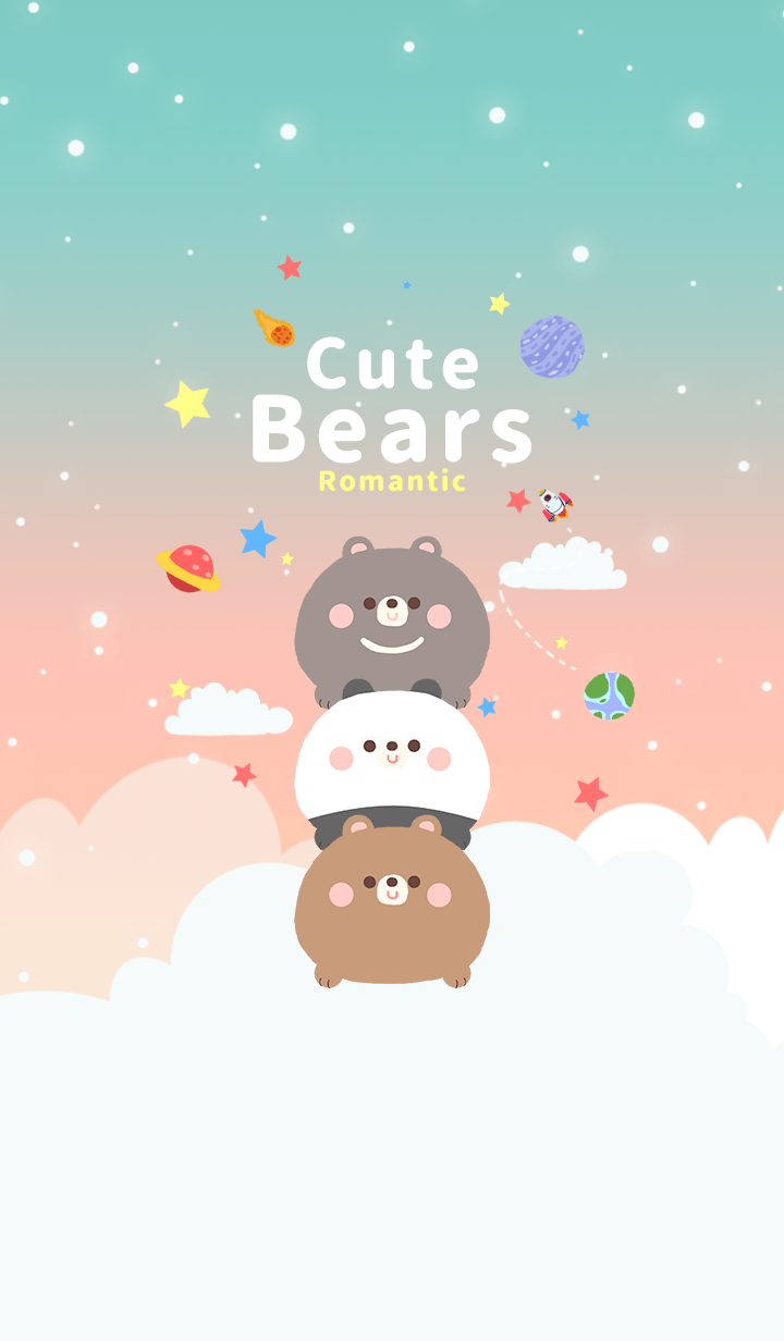 misty cat-Cute Bears Galaxy Romantic 2