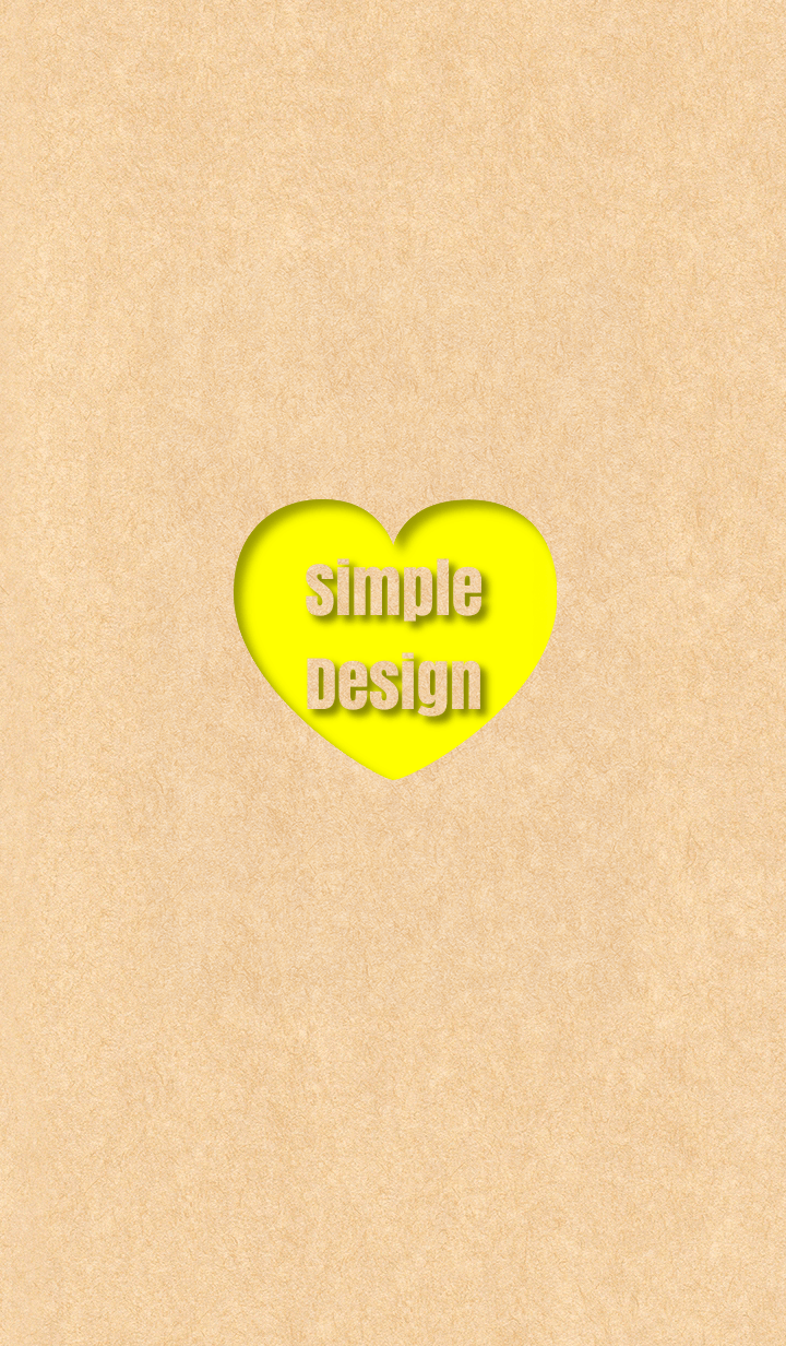 Craft Simple Design Heart Yellow ver.