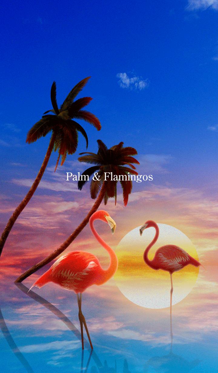 Palm & Flamingos