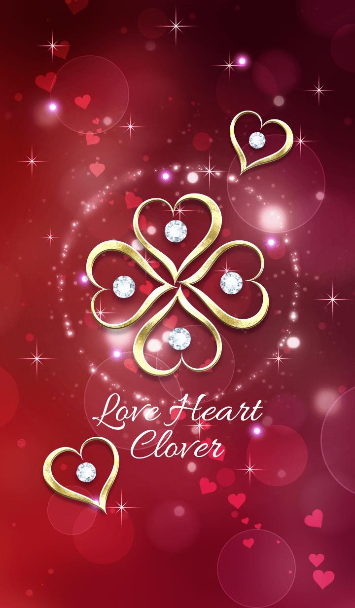 Fortune rise ! Love Heart Clover !