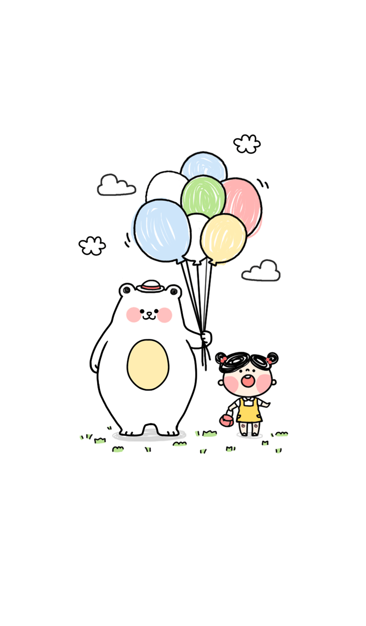 with a balloon