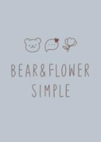 Bear&Flower SIMPLE #Dusty Blue.