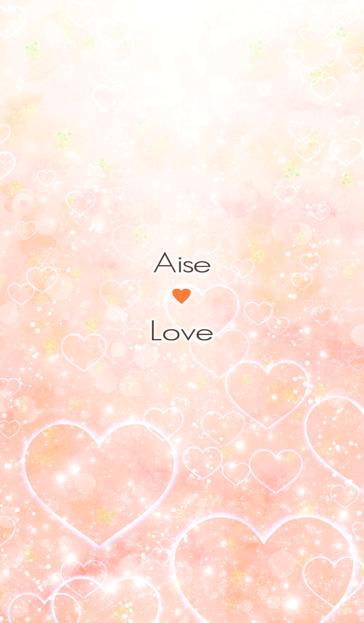 Aise Love Heart name Orange
