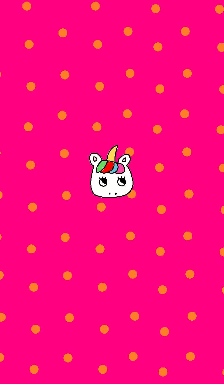 simple unicorn pink dot