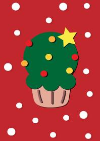 Cute X'mas cupcake