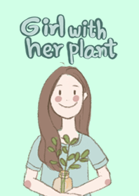 Girl with her plants