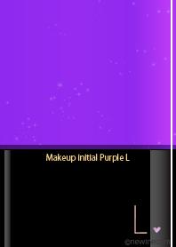 Makeup initial purple L.