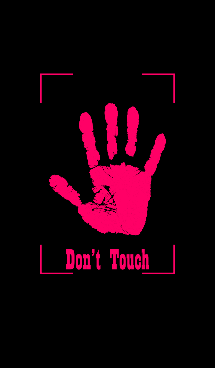 Fingerprint Hand - Don't Touch My Line