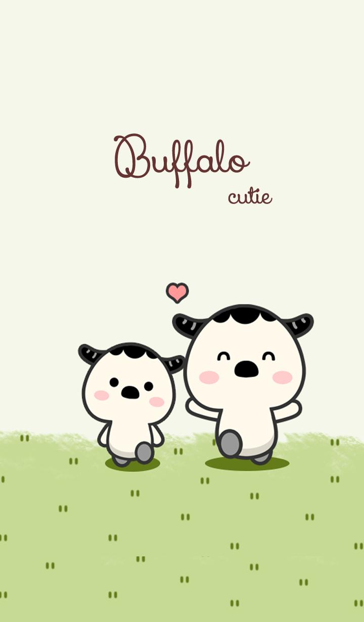 Buffalo cutie on green
