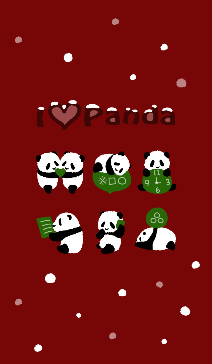 Cute Baby Panda - winter red ver.