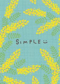 Mimosa and hemp Green4 from Japan