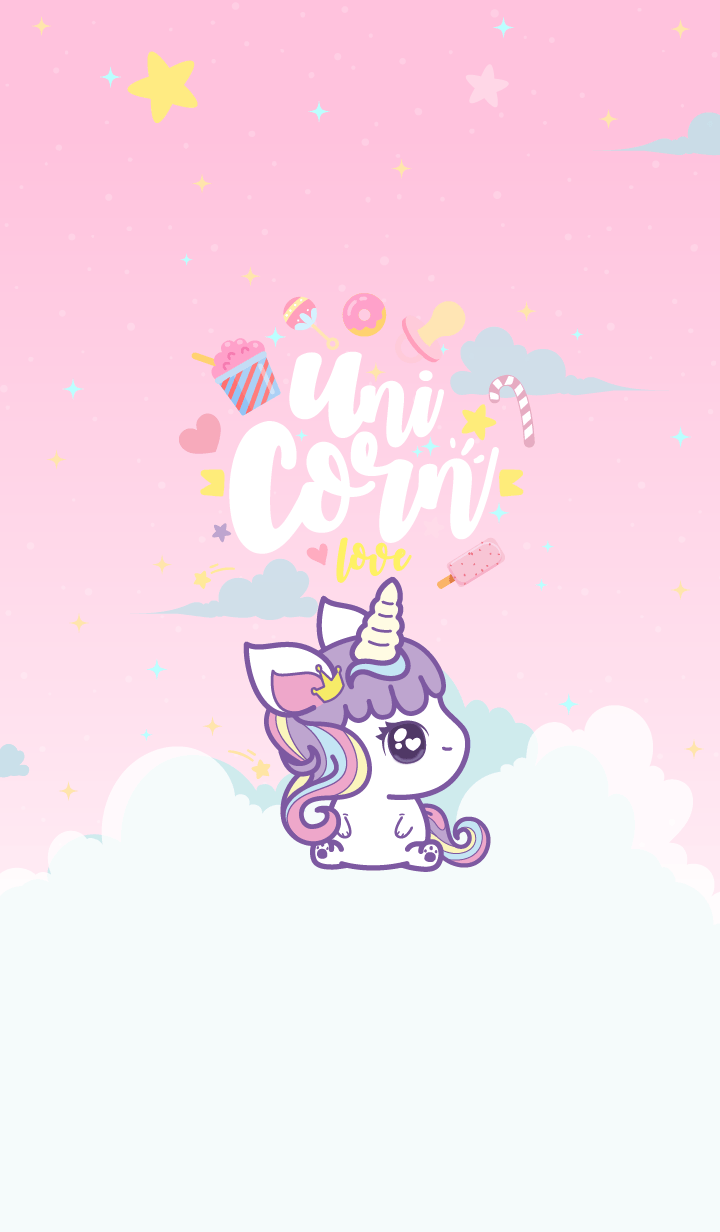 Unicorn Cutie Cute Pink