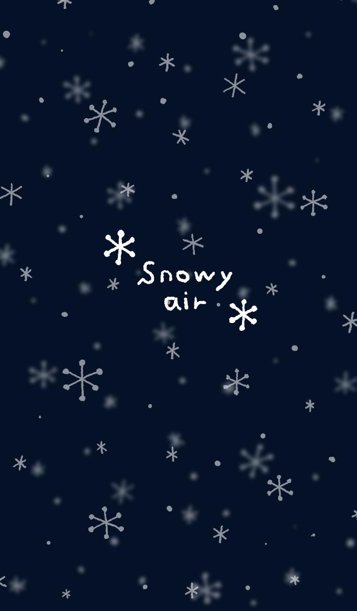 Snowy air