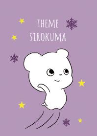 Cute white bear 2 / purple