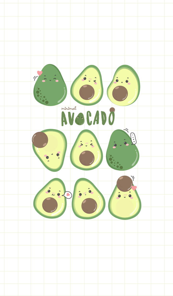 Avocado (minimal white green ver.)