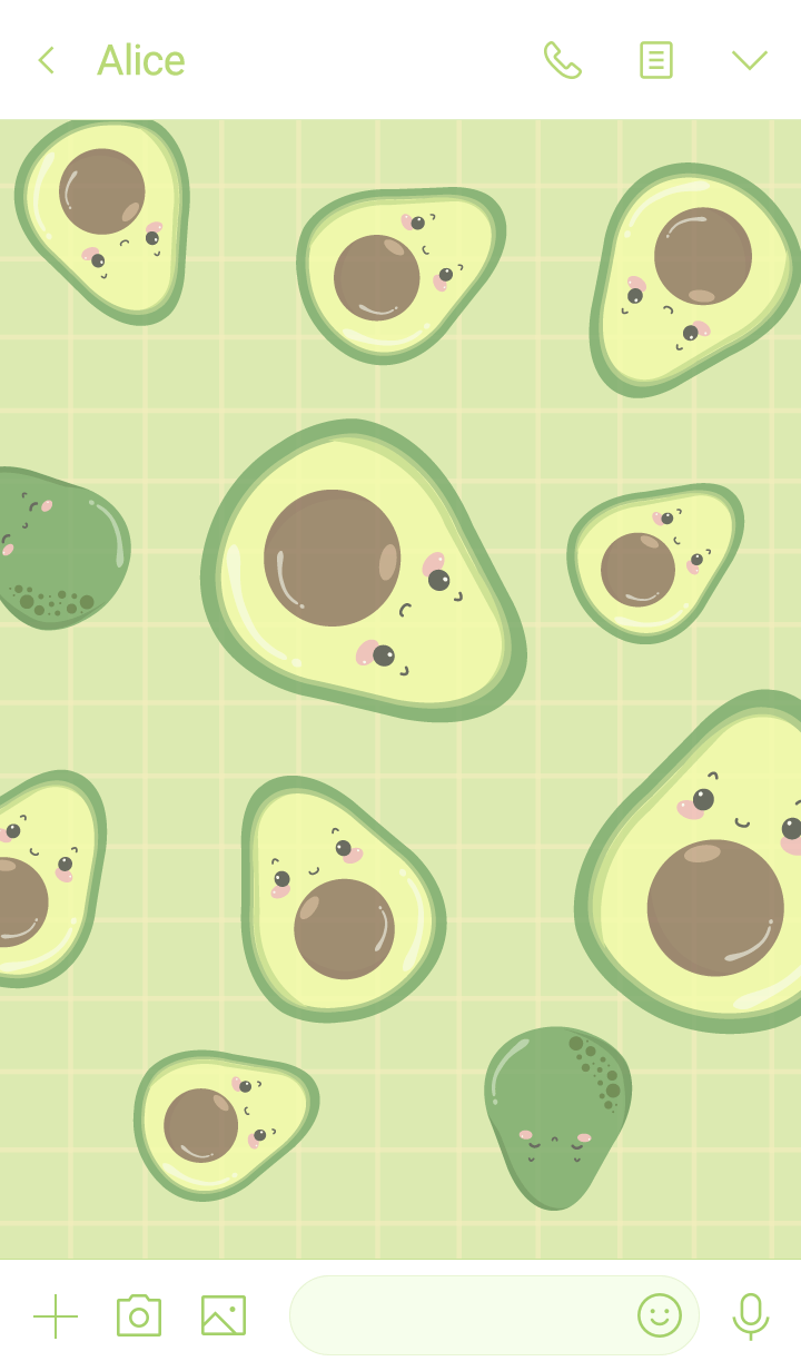 Avocado (minimal white green ver.)