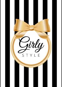 Girly Style-GOLDStripes-ver.8