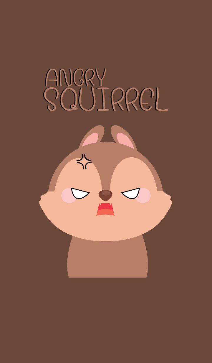 Angry squirrel Face Theme