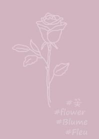 #flower rose (purple beige)
