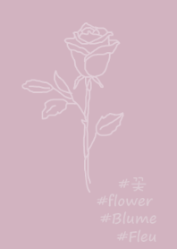 #flower rose (purple beige)