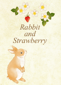 Rabbit and Strawberry (pale color)