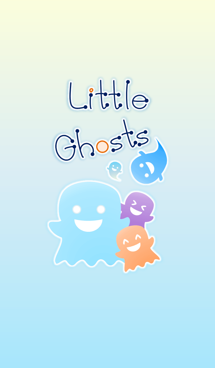 Little Ghosts! (Blue Ver.2)