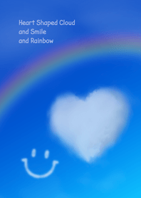 Heart Shaped Cloud and Smile and Rainbow