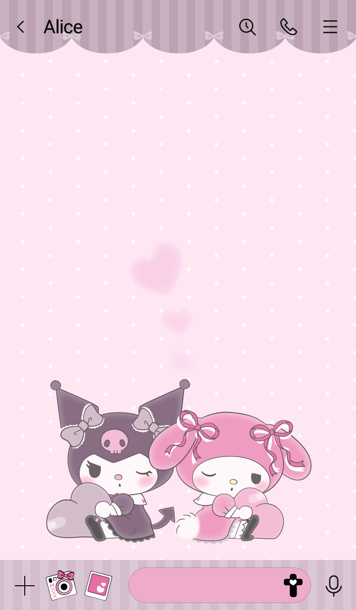 My Melody and Kuromi Pink Greige