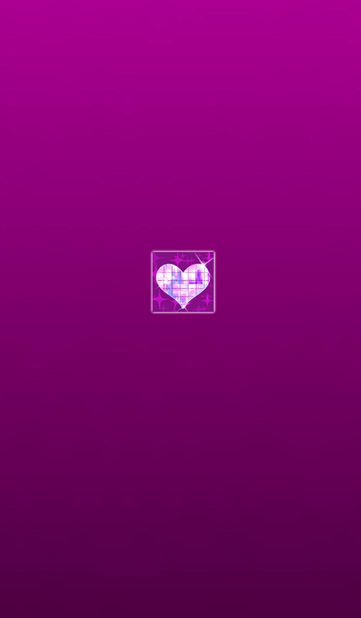 Shining heart pink