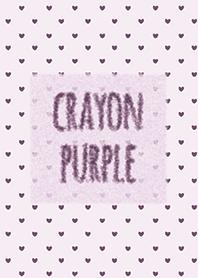 Crayon purple 3 - Heart