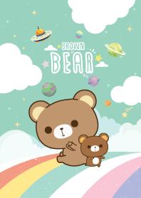 Brown Bear Sky Rainbow Green