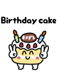 Cute birthday cake Theme