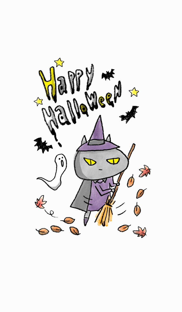 Halloween witch cat 2019