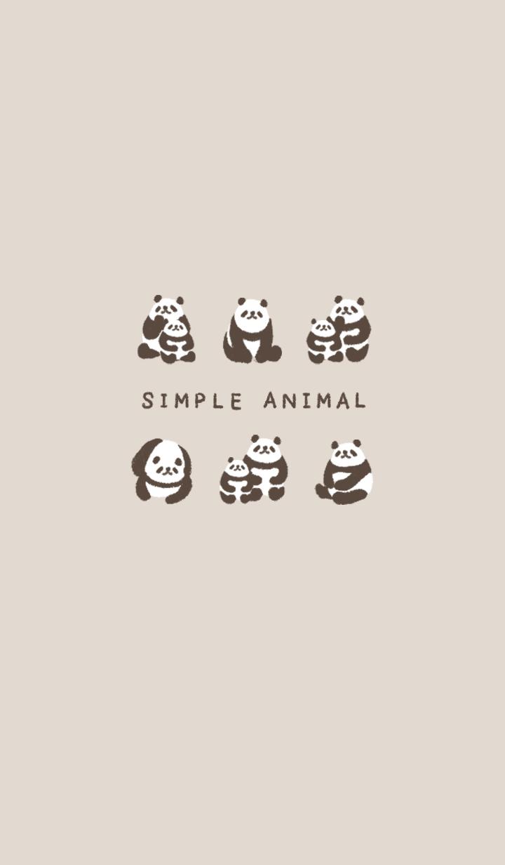 SIMPLE ANIMAL -panda-
