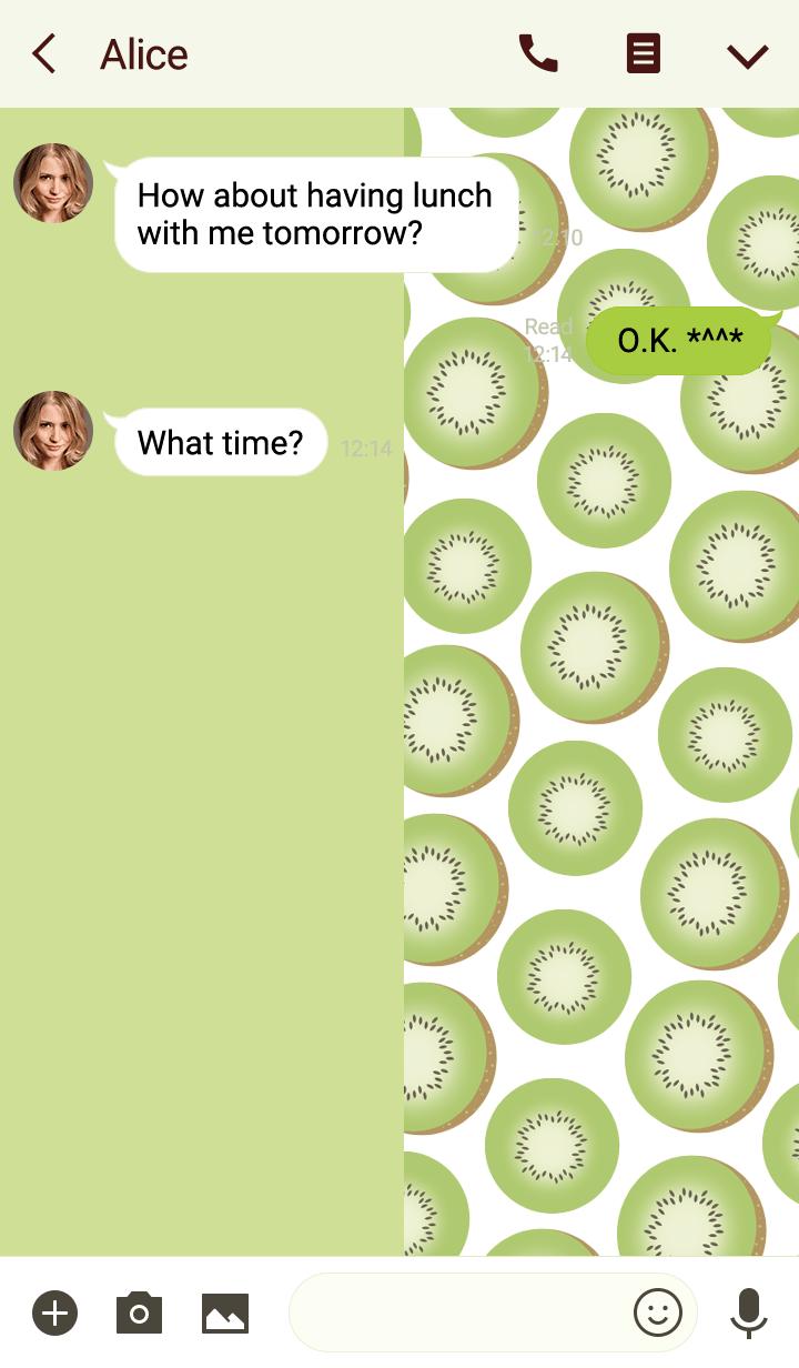 kiwi fruit -Pastel green- #fresh