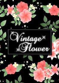 Vintage flower-Red&black-