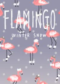 Happy Flamingo -Winter Snow-