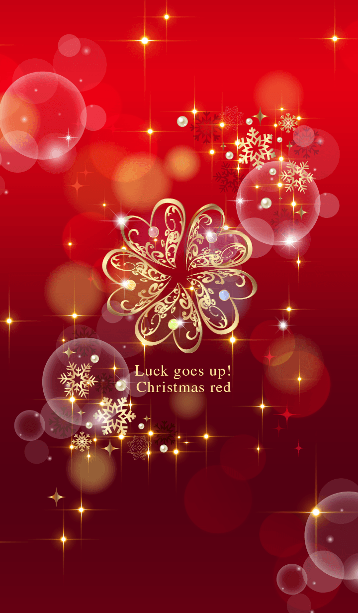 Luckgoesup! Gold5leafclover xmasRed