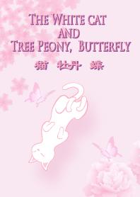 貓 牡丹 蝶