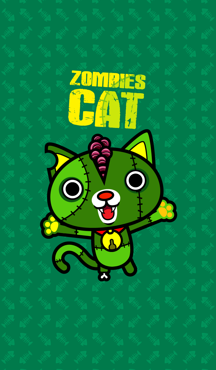 Zombie Cat (Green Version)