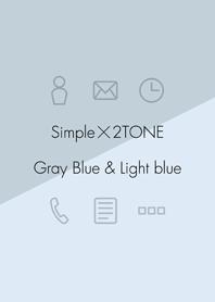 2TONE - Gray Blue & Light Blue -